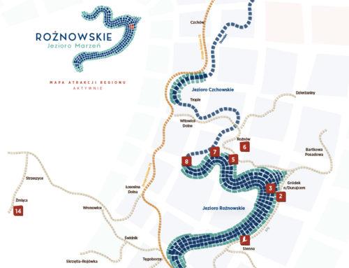 Mapy po atrakcjach Jeziora Rożnowskiego